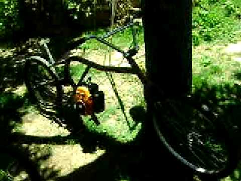 mi bici casera a motor 50cc