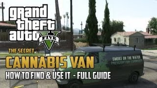"""GTA 5"" - ""SECRET CARS"" - ""Secret Cannabis Van"" - How To Get The Secret Cannabis Van (""Secret Car"")"