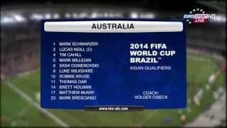 Australia Vs Jordan 2014 FIFA World Cup Qualification