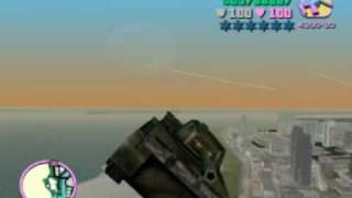 Volando Con El Tanque En Vice City