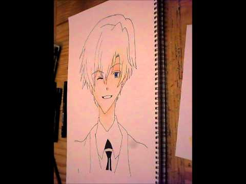 Drawing Tamaki Suoh (ouran highschool hostclub), Disclaimer: i don't own the music or characeters made in this video