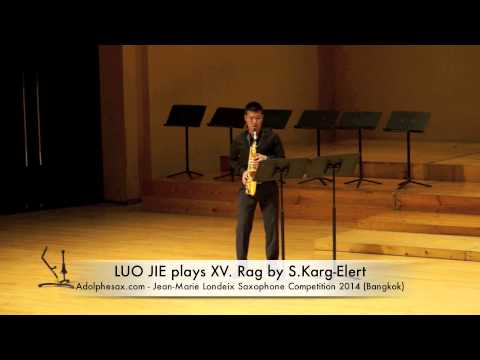 LUO JIE plays XV Rag by S Karg Elert