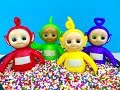 NEW TELETUBBIES Twist and Chime TOYS Figures and RAINBOW CANDY SPRINKLES