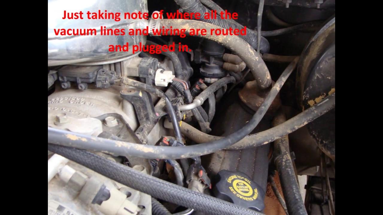 dodge magnum v8 intake plenum pan gasket replacement youtube