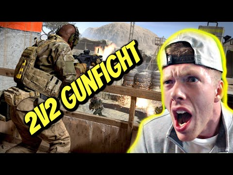 Funny Moments 2v2 Gunfight - Fireball & Throwing Knives [COD: Modern Warfare] (1080p Video)