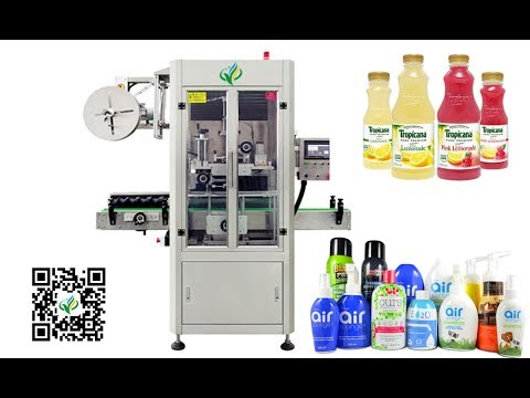 automatic shrink sleeve label machinery with steam heat shrinking oven and generator