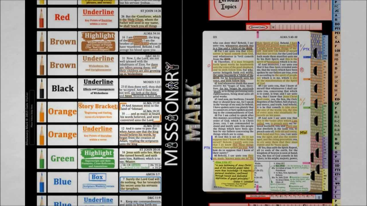 Bible study marking system