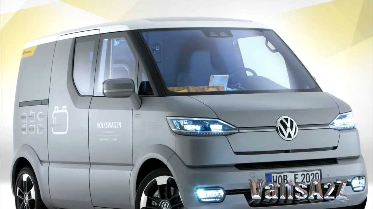 volkswagen  electric transporter concept  youtube