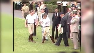 فيديو رائع ونادر للملك في قلب أمريكا مع الرئيس الأمريكي |