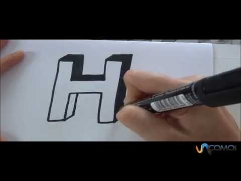 C mo hacer la letra h en 3d how to make the letter h in 3d youtube - Como hacer solomillo a la sal ...