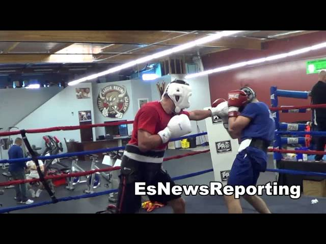 good sparring at the robert garcia boxing acadmey in oxnard EsNews Boxing