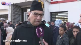 فنانون مغاربة يبكون المرحوم حسن الجندي من أمام منزله |
