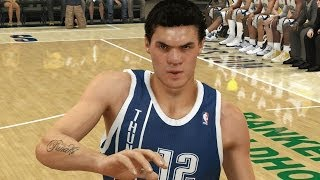 Steven Adams Dominates Down Low NBA 2K14 100 Point Challenge