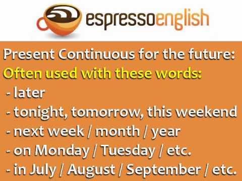Present Continuous for Future Use: English Grammar