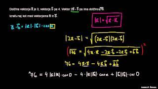 Skalarni produkt – primer 4