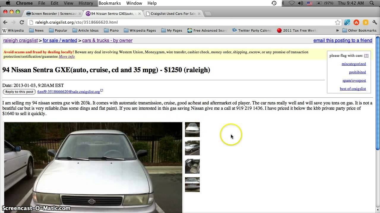 Craigslist Raleigh Used Cars For Sale In January 2013