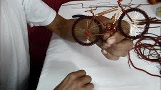 Manualidades - Bicicleta hecha con alambres