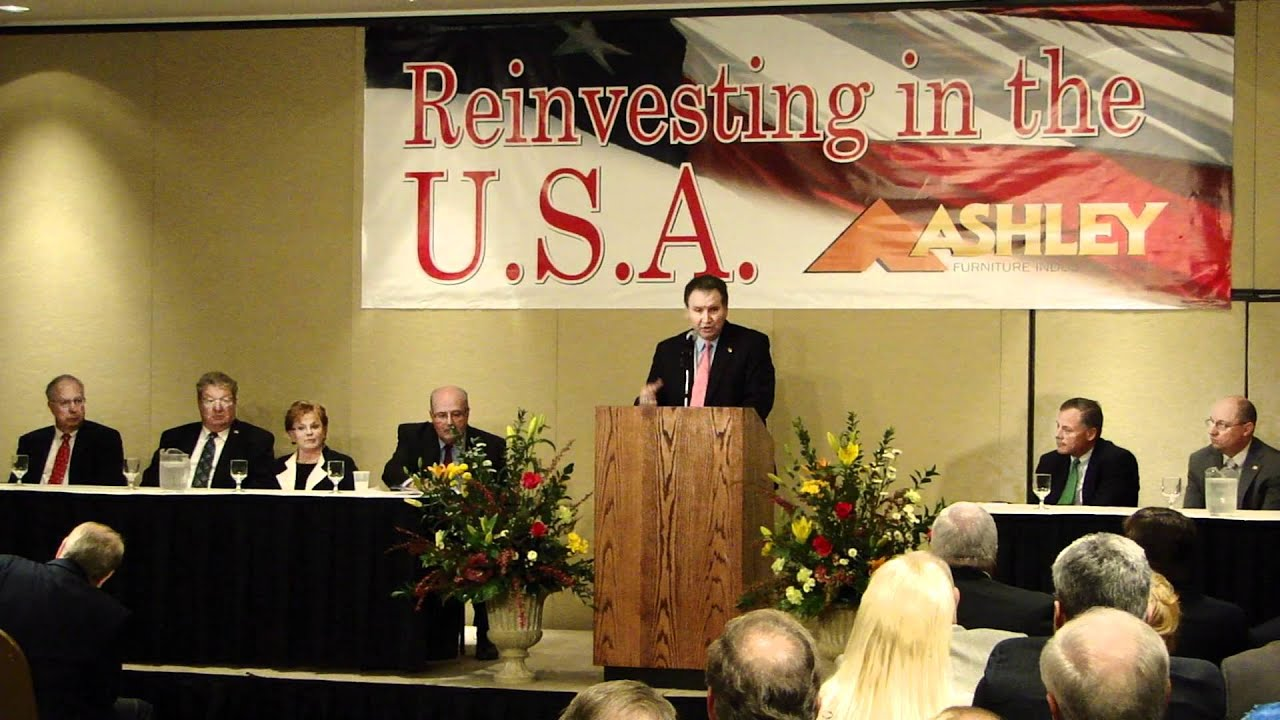 Ashley Furniture Welcomed To North Carolina At The Spring 2012 High Point Furniture Market Youtube