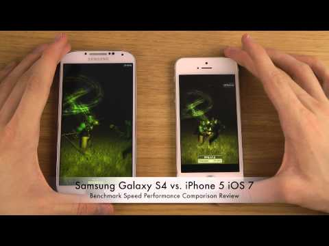 Samsung Galaxy S4 vs. iPhone 5 iOS 7 - Benchmark Speed Performance Comparison Review