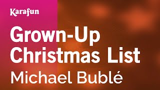 Karaoke Grown-Up Christmas List Michael Bublé *