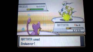 F.E.A.R. Ratata Vs. Arceus Pokemon Wifi Battle