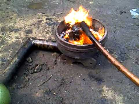 Home made simple waste oil burner youtube for Used motor oil heaters