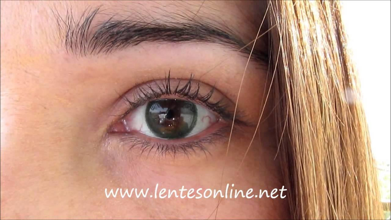Freshlook Dimensions Sea Green On Brown Eyes Youtube