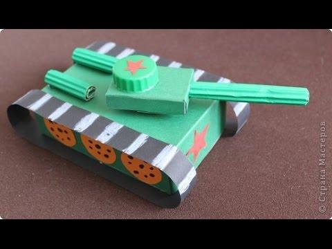 Как сделать танк из картона своими руками схема