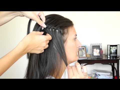 Прическа «Водопад» (видео урок)