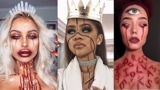 Top 15 Easy Halloween Makeup Tutorials Compilation 2017