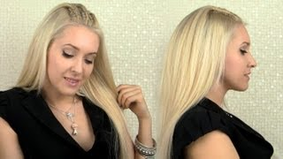How To Braid Cornrows Cute Party Hairstyle For Medium