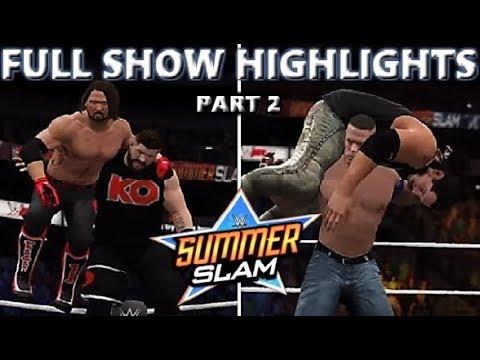 WWE 2K17 SUMMERSLAM 2017 FULL SHOW - PREDICTION HIGHLIGHTS PART 2