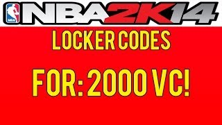 NBA 2K14 Locker Codes! Free 2K VC! PS3/PS4/XBOX 360
