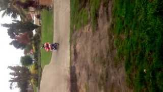 Worlds Fastest 6yo girl on a yamaha pw50. view on youtube.com tube online.