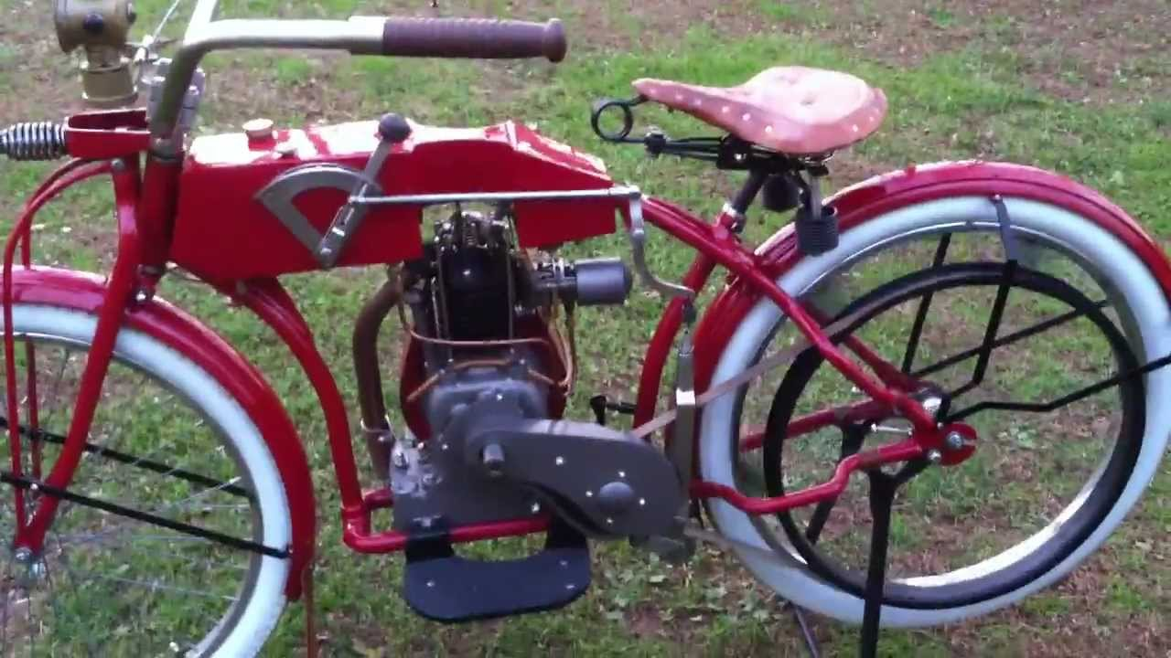 Antique motorcycle replica youtube