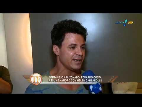TV Fama: Eduardo Costa conta tudo sobre namoro com Helen Ganzarolli
