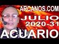 Video Horóscopo Semanal ACUARIO  del 26 Julio al 1 Agosto 2020 (Semana 2020-31) (Lectura del Tarot)