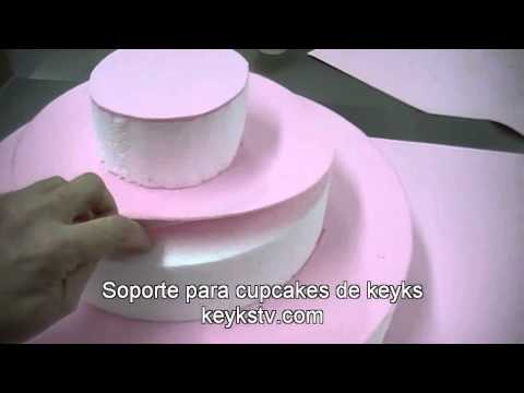 C 243 Mo Hacer Un Stand Soporte Para Cupcakes Youtube