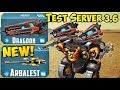 War Robots Test Server New Weapon Arbalest Dragoon Gameplay Spectre