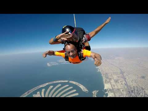 Prashant Mali Skydiving video in Dubai