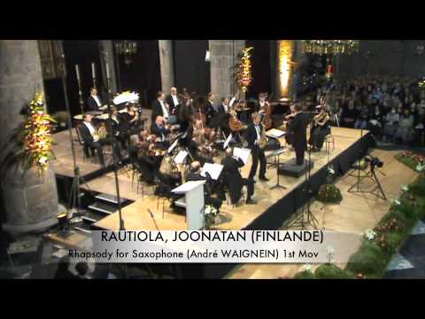 RAUTIOLA, JOONATAN (FINLANDE) Rhapsodie for Saxophone part 1