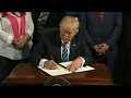 President Trump signs VA accountability executive order
