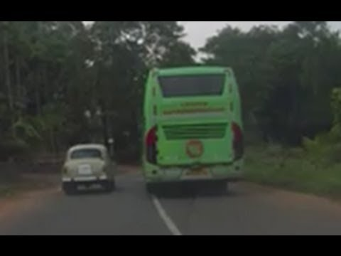 Volvo Bus (Multi-axle B9R) flying on small Indian roads