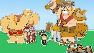 """Clash Of Clans-""""NEW""""FUNNY VILLAGE ANIMATION! (Barbarian King VS Harry Potter)! - Duration: 2:40."""