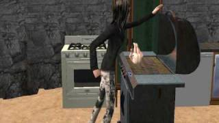 Los Sims 2 Mamá Cocinando A Su Bebé