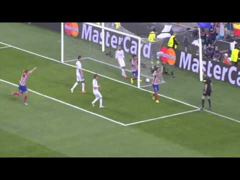 Champions League final:Atletico Madrid -Real Madrid Goal Diego Godin