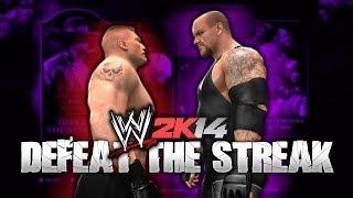 WWE 2K14 DEFEAT The Streak Mode W/ Brock Lesnar (Third