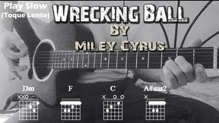 How To Play Miley Cyrus ~ Wrecking Ball| Standard Chords