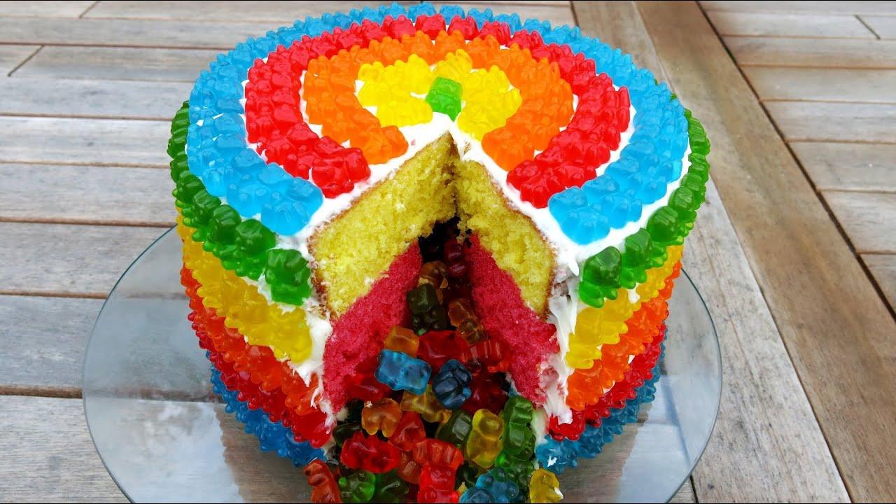 Rainbow Gummy Bear Pi 209 Ata Cake Youtube