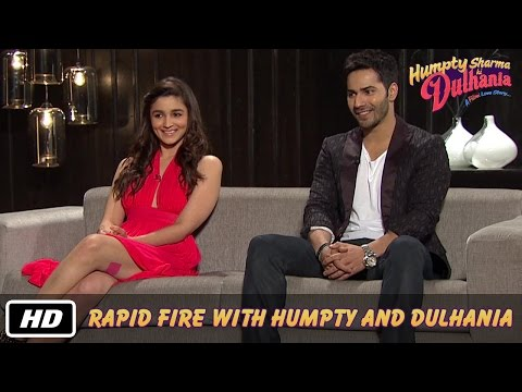 Rapid Fire with Humpty and Dulhania - Karan Johar, Varun Dhawan, Alia Bhatt